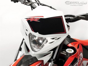How to guide to install a headlight on a dirt bike.